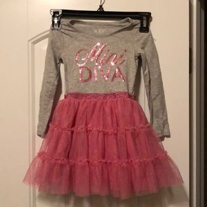 Mini Diva! Sequin and tulle dress - size 3T